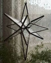 Hanging Christmas Decoration Window Metal Glass Star