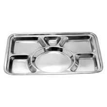 Six Compartment Dry Fruit Serving Bowl With Silver Finish