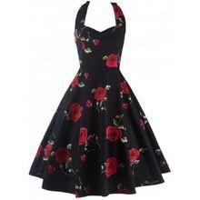Gothic Halter Women Sun Dress