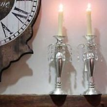 Soap Stone Church Candle Stand Holders
