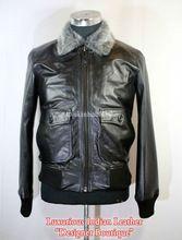 Collar Black Leather  Jacket
