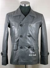 German Leather Lambskin Pea Coat