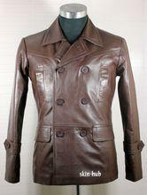 Leather Lambskin Pea Coat