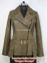 Sheep Leather Double Breasted Coat