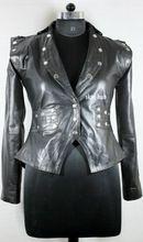 womens emo sheep leather jacket