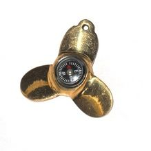 Nautical Brass Fan Blade Key Chain