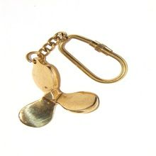 Nautical Fan Blade Brass Key Chain