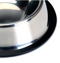 Stainless Steel Black Rubber Ring Pet Bowls