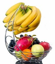 Stainless Steel Fruit Bowl With Banana Hanger