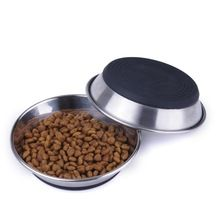 Stainless Steel Silicone Pet Dish Cat Bowl