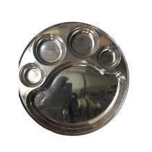 Stainless Steel Partitions Dinner Plates