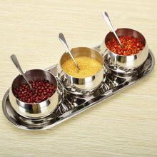 Stainless Steel Cruet Condiment Spices Set