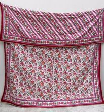 Multi Color Hand Block Printed Cotton Quilt