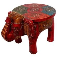 Wooden Elephant Stool