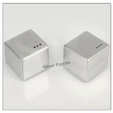 Stainless Steel Dice Salt And Pepper Set
