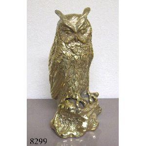 Brass Owl Figures