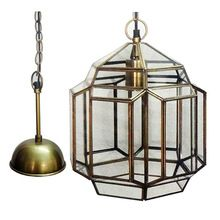 Glass And Brass Chandeliers