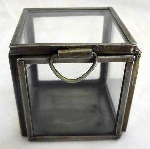 Glass And Iron Storage Box