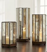 Glass Candle Holder Tall