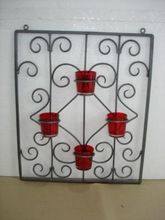 Iron Wall Votive Stand