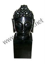 Black Stone Buddha With Base