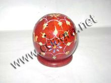 Colored Soapstone Tealight Candle Lamp