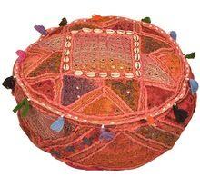 Vintage Sari Quilt Stool Floor Seat