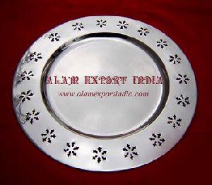 Border Design Metal Charger Plate