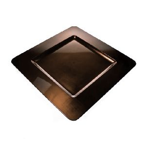 Metal Square Colored Charger Plate