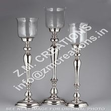 Glass Hurricane Candle Pillar