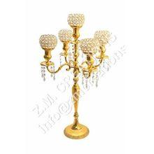 Gold Crystal Candelabra