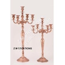Wedding Copper Color Candelabra