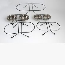 Black Epoxy Metal Wire Frame Double Diners Set