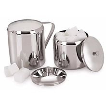 Stainless Steel Milk And Sugar Pots With Lids
