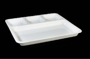 Acrylic 4 Compartment Divided Plate