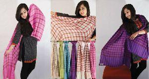 Kashmiri Checkered Wool Stole