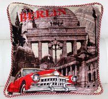 Berlin City Art Image Printed Cushion Cover
