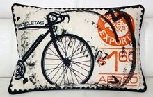 Cycle Art Image Printed Cushion Cover