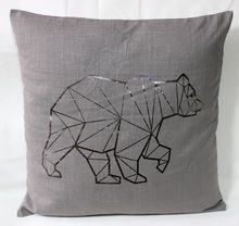 Golden Foiled Cotton Cushion Cover