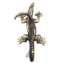 Lizard Brass Door Handle