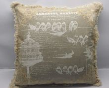 Natural Cotton Linen Printed Cushion Cover
