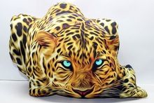 Tiger In Action Image Cotton Pillow