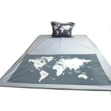 World Map Art Duvet Cover