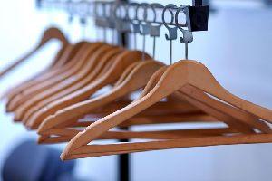 Wood Polished Plastic Hanger