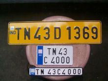 Blank Number Plate