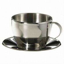 Steel Cup And Saucer