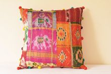 Handmade Ethnic Work Cotton Patches Cushion Cover