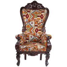 Cotton Solid Wood Long Chair