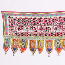 Embroidered Antique Door Topper