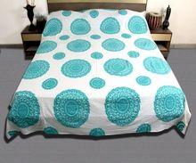 Embroidered Patchwork Bedspread